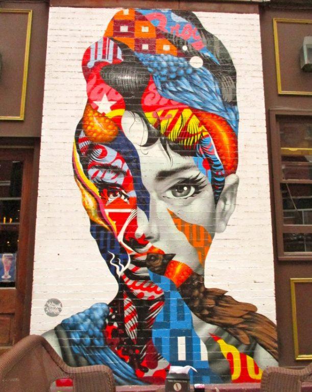 Graffiti de Audrey Hepburn, de Tristan Eaton