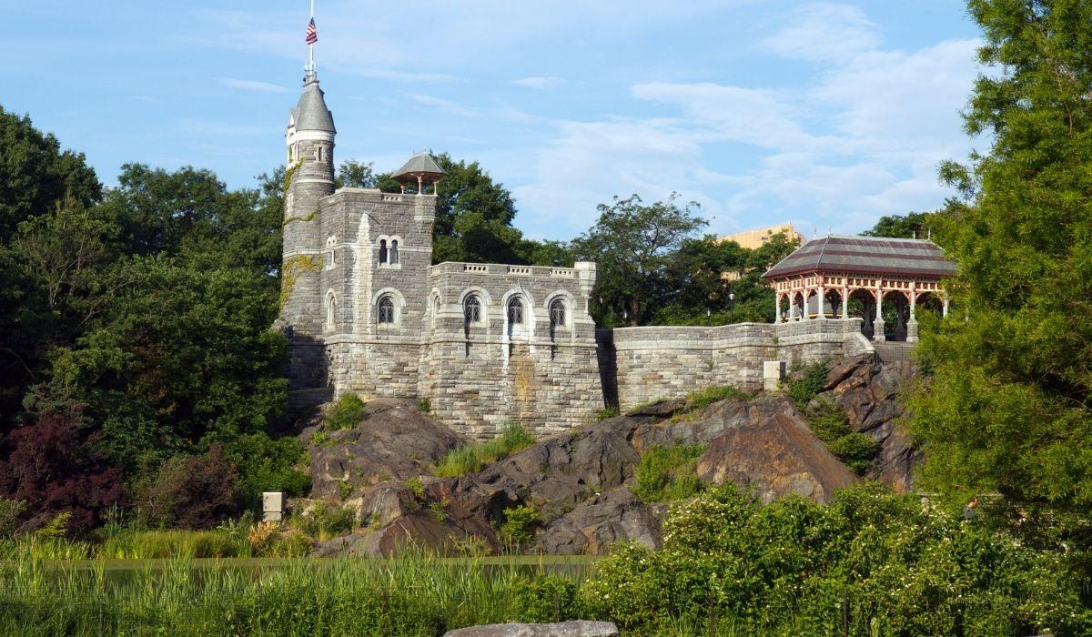 Se observa el Castillo Belvedere de Central Park en Nueva York