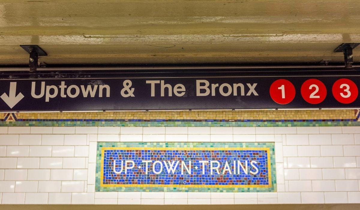 El bronx Nueva York parada de metro