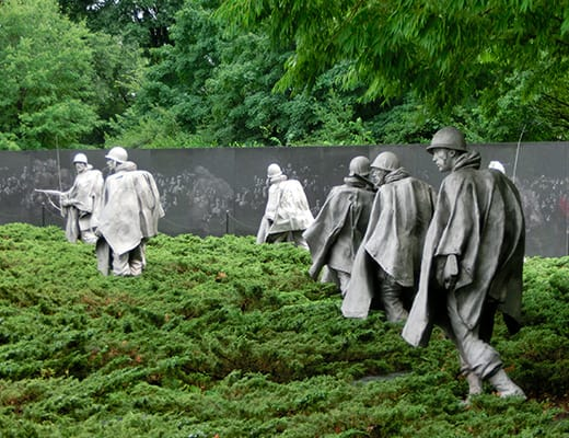 Monumento Guerra de Korea en Washington
