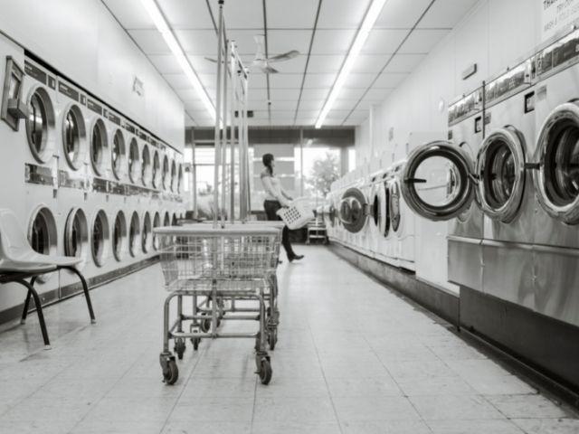 Se visualiza una de las Lavanderías de New York