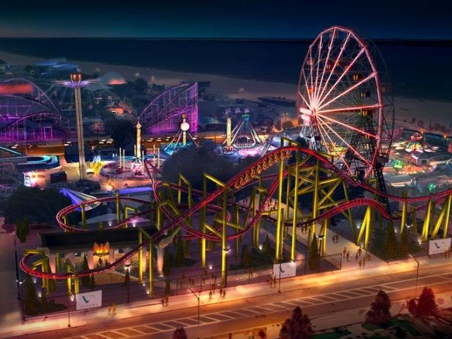 Se visualiza la nueva atracción de Coney Island Phoenix Roller Coaster