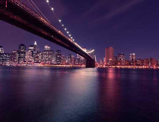 Vistas de Nueva York iluminado