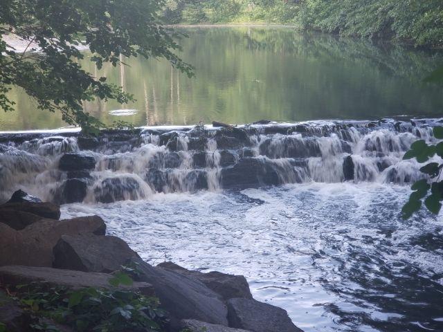 Se observa el Río Bronx, perteneciente a Nueva York, específicamente una de sus cascadas.