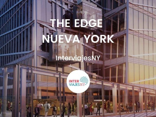 Se visualiza uno de los sitios más turísticos de New York, el rascacielos The Edge